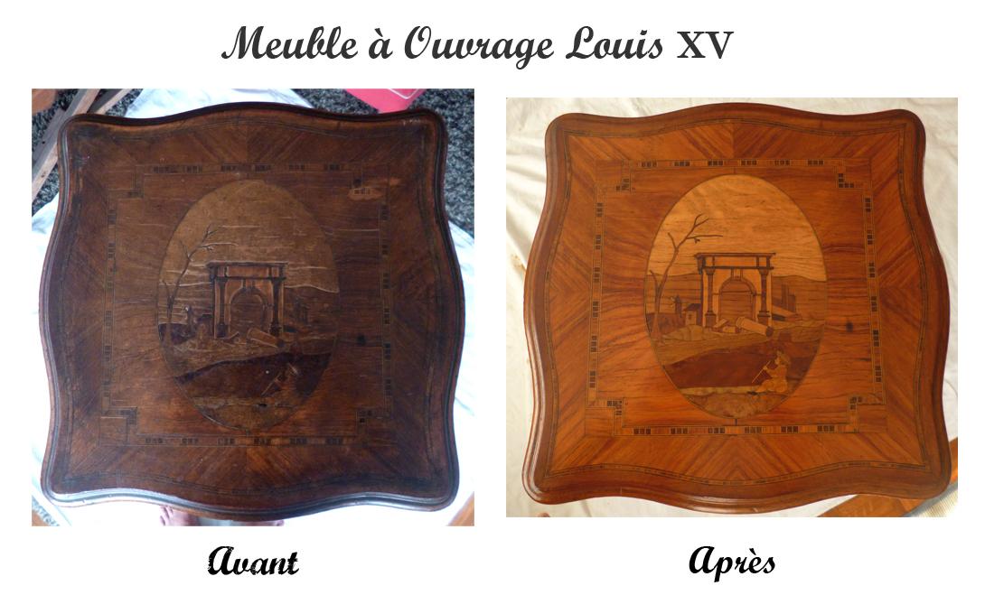 Meuble A Ouvrage Louis Xv